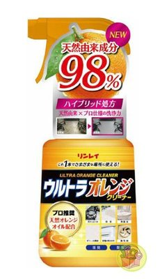【JPGO日本購】日本進口 RINREI 天然橘油成分 萬用 清潔劑 噴霧 700ml#616