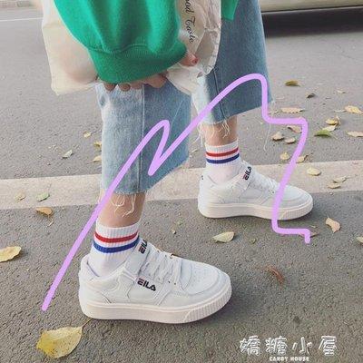 韓版ulzzang原宿bf運動鞋百搭板鞋ins學生平底街拍魔術貼小白鞋女