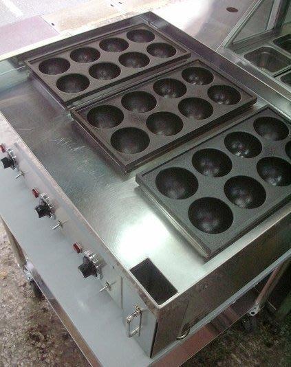 『隆安餐飲設備』3板電熱炸彈燒爐 章魚丸爐 章魚燒章魚小丸子機 炸彈燒
