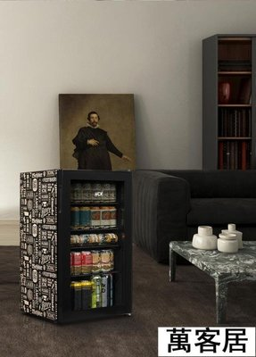 哈士奇小冰箱單門式玻璃門小型辦公室家用冰吧客廳冰箱小冰箱