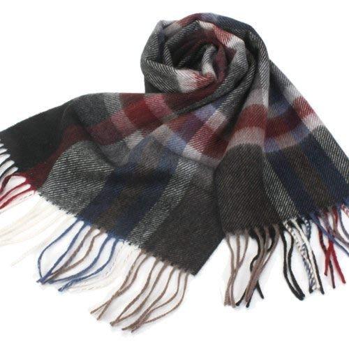 【姐只賣真貨】S.T.Dupont 羊駝毛混紗時尚格紋圍巾(黑色/深藍/咖啡)