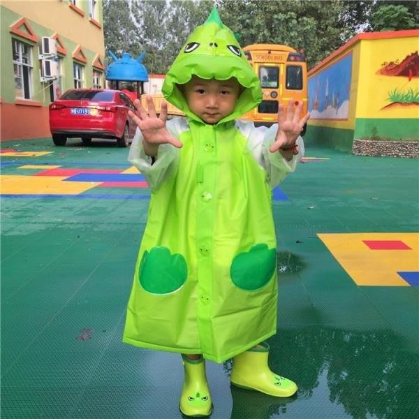 雨天小學生可愛男女童寶寶卡通環保無味帶書包小黃鴨雨披兒童雨衣
