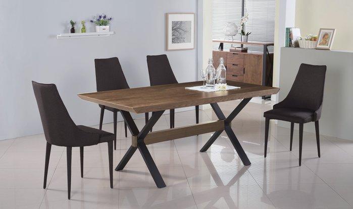 FA-450-1安德烈 5.8尺胡桃餐桌/大台北區/衣櫃/系統家具/沙發/床墊/茶几/高低櫃/1元起/最低價/高品質