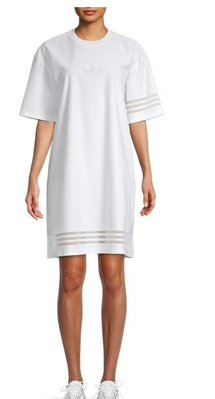 adidas Dropped-Shoulder Recycled Polyester T-Shirt Dress