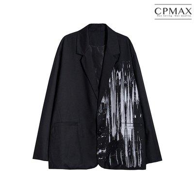 CPMAX 暗黑塗鴉西裝外套 休閒西裝外套 西裝 西裝外套 休閒西裝 男生西裝外套 黑色西裝外套 暗黑塗鴉 E14