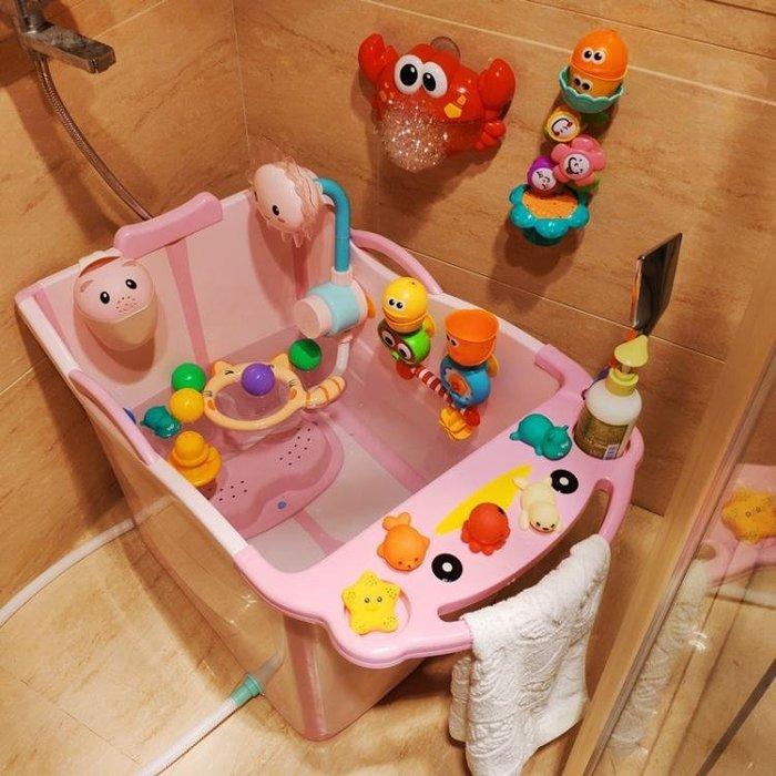 抖音儿童折叠浴桶加大号洗澡桶婴儿浴盆可坐躺新生儿宝宝泡澡保温