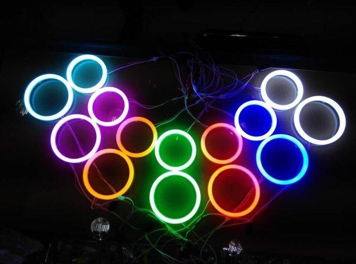 COB LED 單色或雙色光圈 RGB 七彩變色 天使眼 霧燈光圈 風扇燈 天使眼 日行燈