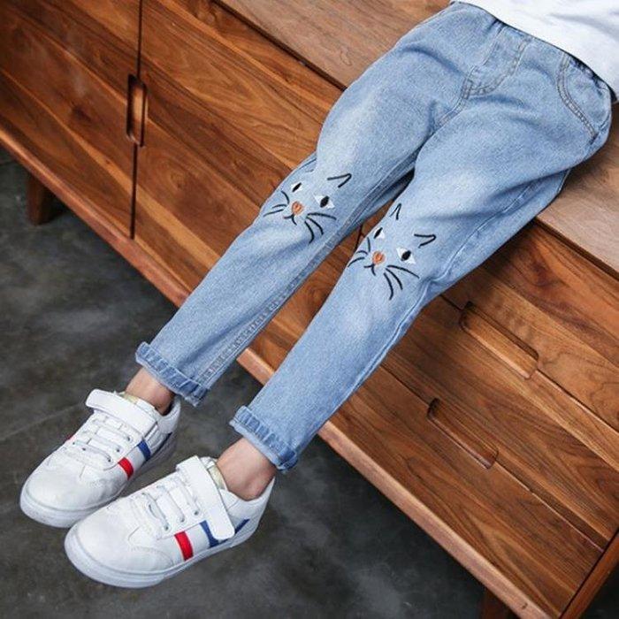 2018春季新品韓國女童牛仔褲中大童8寬鬆9潮流休閒長褲時尚小腳褲