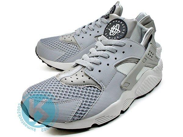 NIKE AIR HUARACHE WOLF GREY 灰銀 灰銀白 透氣網眼 慢跑鞋 318429-014
