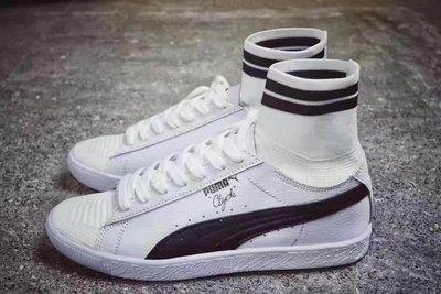 ☆LION販殼☆PUMA IGNITE evoKNIT 板鞋 襪子鞋 高筒 白色