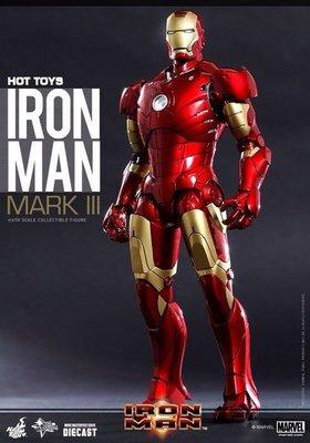 《藍鯨模型》HOT TOYS MMS256 D07鋼鐵人 合金版 Mark3 / 馬克3