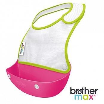 【小糖雜貨舖】英國 Brother Max 2合1 棉製 攜帶圍兜 - 粉色