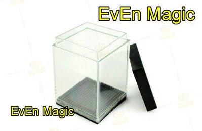 【意凡魔術小舖】透明魔盒 空盒來錢 透明魔盒出現錢 硬幣穿魔盒 硬幣魔術