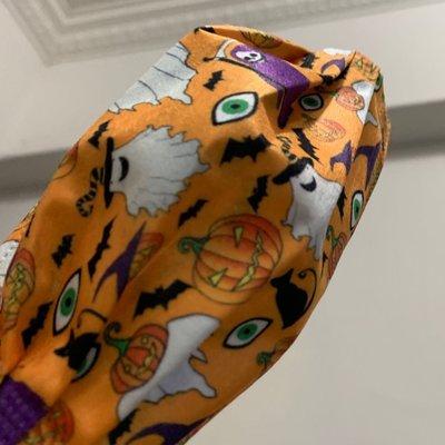 Eliauk小鋪一組10片獨立包裝萬聖節🎃快樂好特殊收藏ㄧ組愛瑪仕橘🍊南瓜成人平面口罩ㄧ次性拋棄式