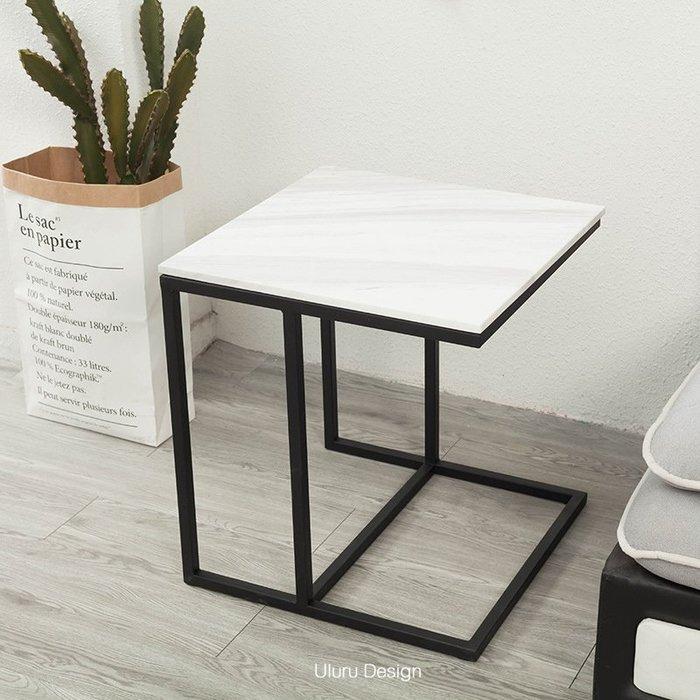 【Uluru】北歐風格 大理石邊几 可收納茶几 邊桌 空間沙發邊几 側邊桌 床頭桌 沙發邊桌 置物桌 展示桌 設計師款