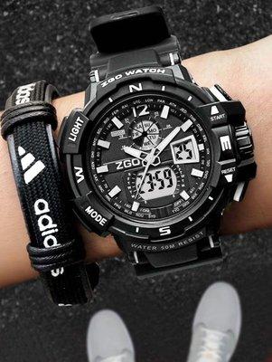 【蘑菇小隊】手錶zgo男士手錶防水成人機械運動潮韓版青少年中學生電子錶男特種兵 DF-MG72199