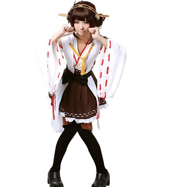 5Cgo【鴿樓】會員有優惠 44239389537 艦隊Collection 艦娘金剛四姐妹cosplay服 比睿金剛榛