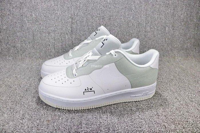 Nike Air Force 1 low 白色 百搭 拼接 休閒滑板鞋 男女鞋 BQ6924-100