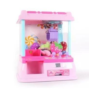 娃娃機 抓娃娃機迷妳兒童玩具小型家用娛樂益智扭蛋遊戲機投幣夾公仔機器  JD   全館免運