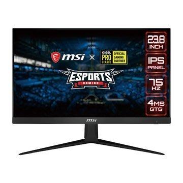 含稅 MSI 微星 Optix G241V E2 24型 IPS FHD無邊框電競螢幕 支援HDMI FreeSync