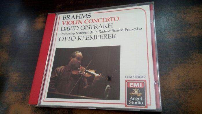 好音悅 David Oistrakh Klemperer Brahms 布拉姆斯 小提琴協奏曲 EMI 美版 無IFPI
