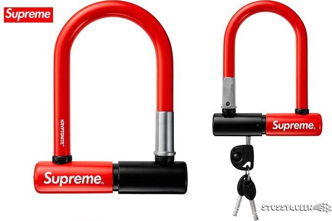 【超搶手】全新正品2015 AW 秋冬Supreme x Kryptonite U Lock 單車 腳踏車 大鎖 紅色