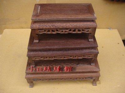 小o結緣館仿古傢俱....長方木面底座木雕'石雕'神尊'花瓶(加高款三件式)(單件價)