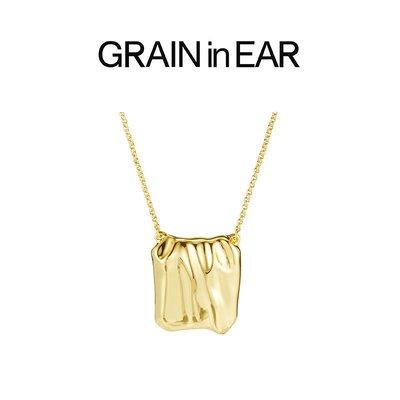 SC STORE~GRAIN in EAR 小眾設計簡約時尚方塊褶皺ins冷淡中性風項鍊鎖骨鍊