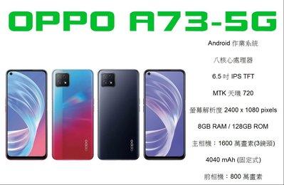 直購-台北門市 OPPO A73-5G 8/128 空機特價 6490元