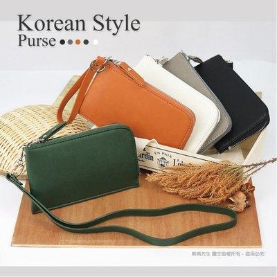 《熊熊先生》韓風高質感皮革頸掛包 掛脖包 手機袋 手腕包 手拿包 卡片夾 零錢包袋 小物隨身袋