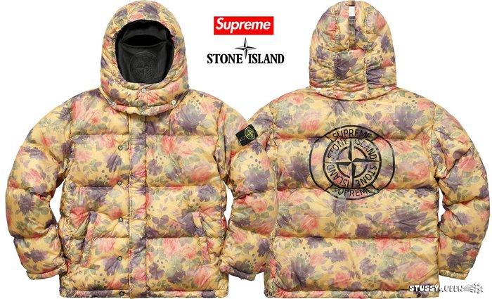 【超搶手】全新正品2017 Supreme x Stone Island Lamy Puffy Jacket羽絨外套 M
