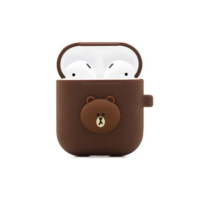 【GARMMA LINE FRIENDS AirPods 藍芽耳機盒保護套 熊大】Air Pods 保護套