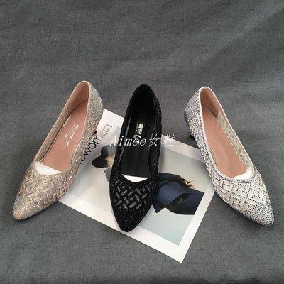 Empress丶春款歐美風舒適尖頭洋氣中跟潮鞋女鞋氣質洋氣時尚女單鞋