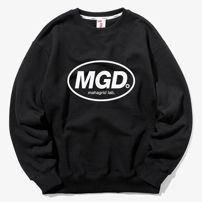 【QUEST】MAHAGRID - MGD CREWNECK 橢圓LOGO大學T 黑