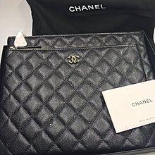 Chanel 子母手包 粗皮實用 全新購自歐洲保正真品