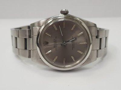 鴻圖當舖 Rolex 勞力士 稀有古董1018白鋼天文台男庄腕錶36mm1570機芯