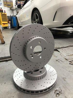 賓士 W205  W213 強化 碟盤 煞車盤 C250 C300 C400 E300 C43 brembo來令 煞車片 C253 GLC250 GLC300