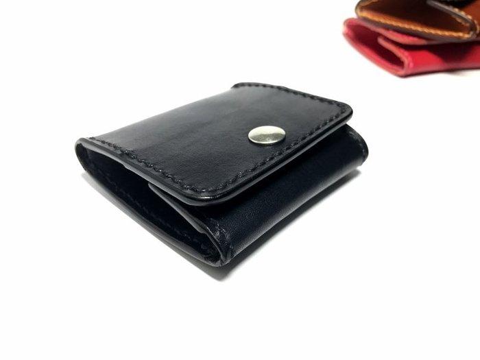 【IAN X EL】方形零錢包 提供免費印字 純手工皮件