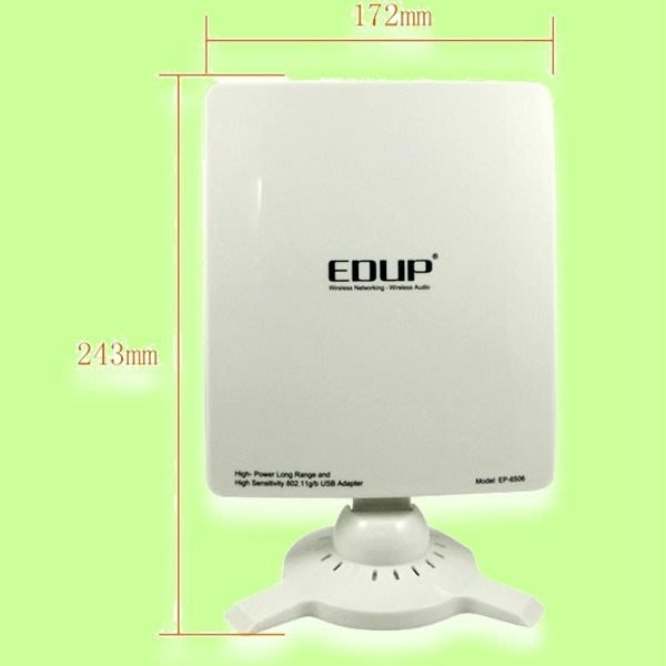 5Cgo【代購】EDUP 長距離 大功率 無線網卡 54Mbps USB EP-6506 指向天線 含稅 會員扣5%