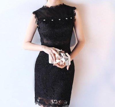 哆啦本鋪  新款夏短款宴會修身韓式時尚優雅主持聚會公主連衣裙女D655