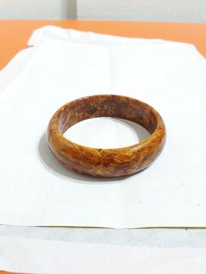 【九龍藝品】金海柳手鐲 ~ 版寬約18mm/內徑寬約62mm(19.5圍)【 1 】
