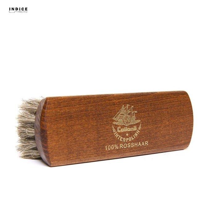 INDiCE ↗ Collonil『基礎護理系列』Polishing Brush 馬尾鬃毛精細拋光鞋刷 原色 德國製