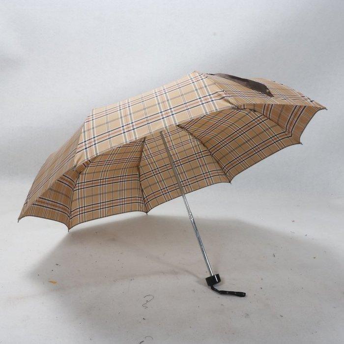 奇奇店-浪漫時尚樂.上三節鋼骨色織布經典時尚晴雨傘#加固 #小清新 #晴雨兩用