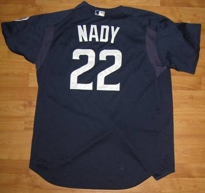 MLB 2005 Padres #22 Xavier Nady Game Used BP Jersey  Size:48
