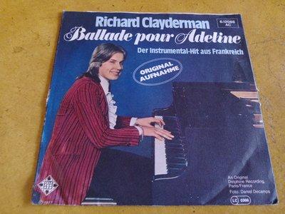 7吋單曲黑膠唱片《Richard Clayderman - Ballade pour Adeline》給愛德琳的詩、德版