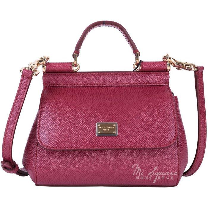 米蘭廣場 DOLCE & GABBANA Miss Sicily 防刮牛皮兩用包(Mini/紫紅) 1520085-87