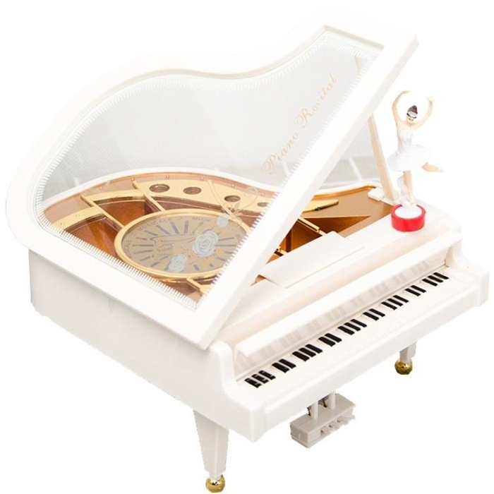 音樂盒 創意女生鋼琴音樂盒芭蕾舞女孩旋轉八音盒兒童男女生日禮物擺件