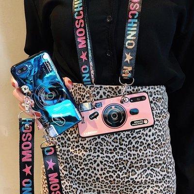 華為手機殼 保護套斜跨掛繩復古相機華為Nova2s手機殼nova3e藍光榮耀10/9/8硅膠套v10抖音全包軟p20防摔女p10套Pro/plus