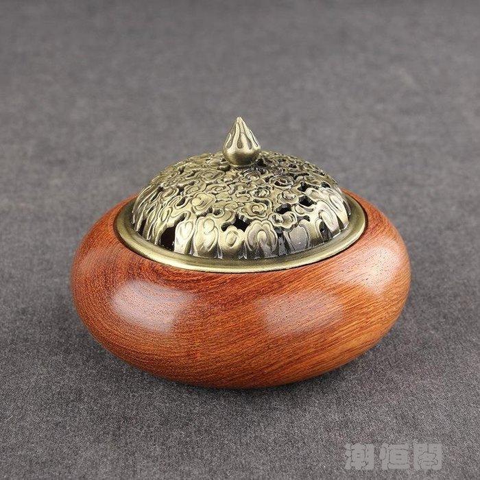 越南花梨木香爐 紅木盤香爐室內熏香器 香道具17