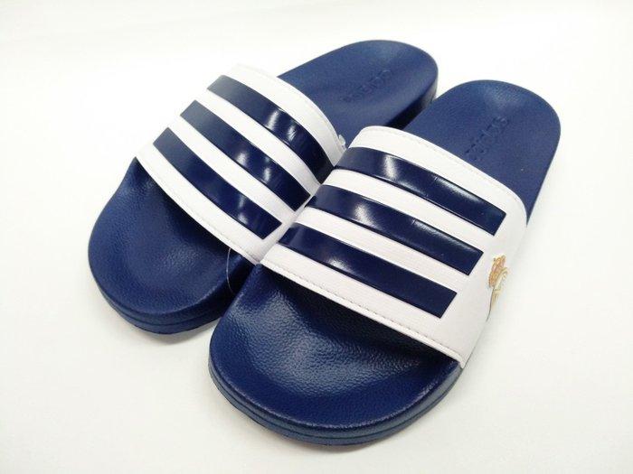 宏亮 adidas 愛迪達 拖鞋 運動拖鞋 尺寸US7~13 深藍白 Adilette Shower 男 FW7073